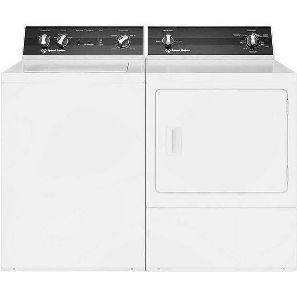 Speed Queen Washer & Dryer Side/Side Front and Top Load Set TR5000WN / DR5000WE
