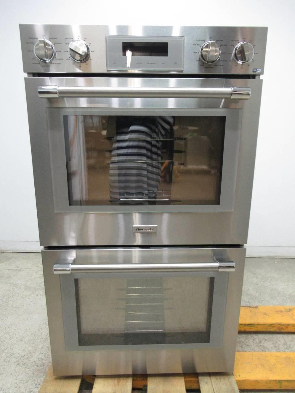 "Thermador Professional Series 30"" 16 modes Self-Clean SS Double Oven POD302W - ALSurplus AL"