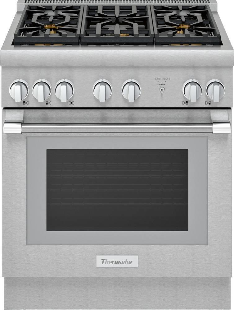 "Thermador Pro Harmony 30"" SS 5 Sealed Star Burners Pro-Style Gas Range PRG305WH - ALSurplus AL"