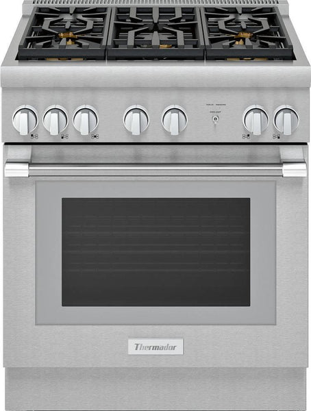 "Thermador Pro Harmony 30"" 5 Sealed Star Burners Pro-Style Gas Range PRG305WH"