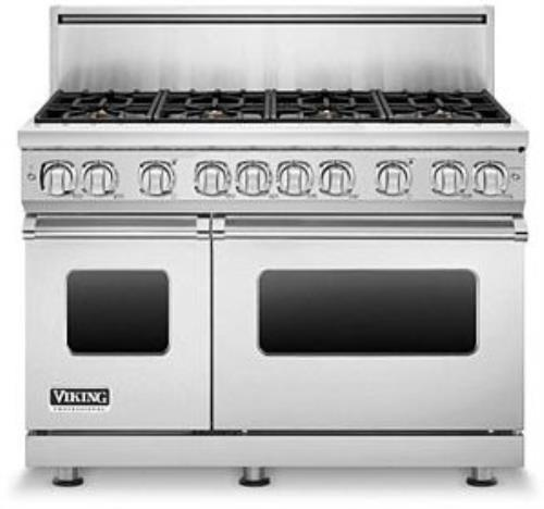 Viking Professional 7 Series VGR7488BSSLP 48 Inch Pro-Style Gas Range Images