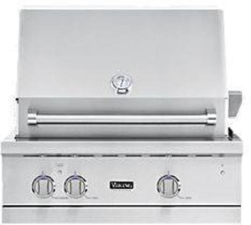 "Viking Professional 5 Series 30"" Stainless Built-in LP Gas Grill VGBQ53024LSS - ALSurplus AL"