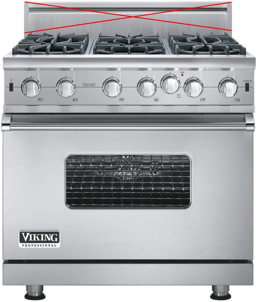 "Viking Professional 5 36"" VariSimmer Pro-Style Convection Gas Range VGIC53616BSS"