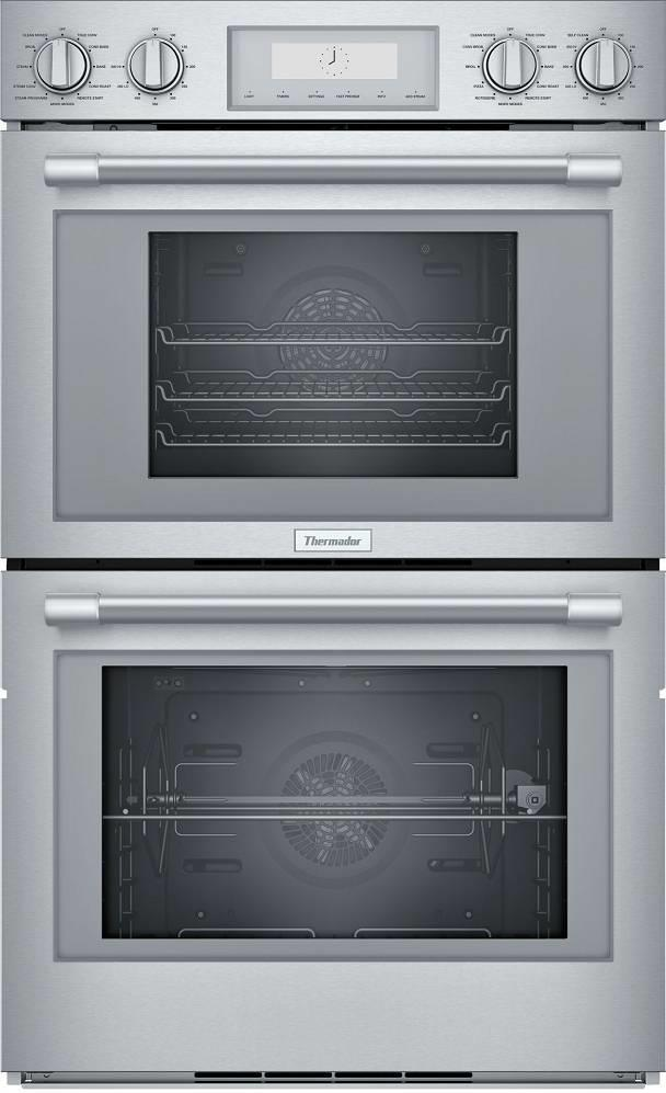 "Thermador Professional Series 30"" SoftClose Double Wall Oven PODS302W Perfect - ALSurplus AL"