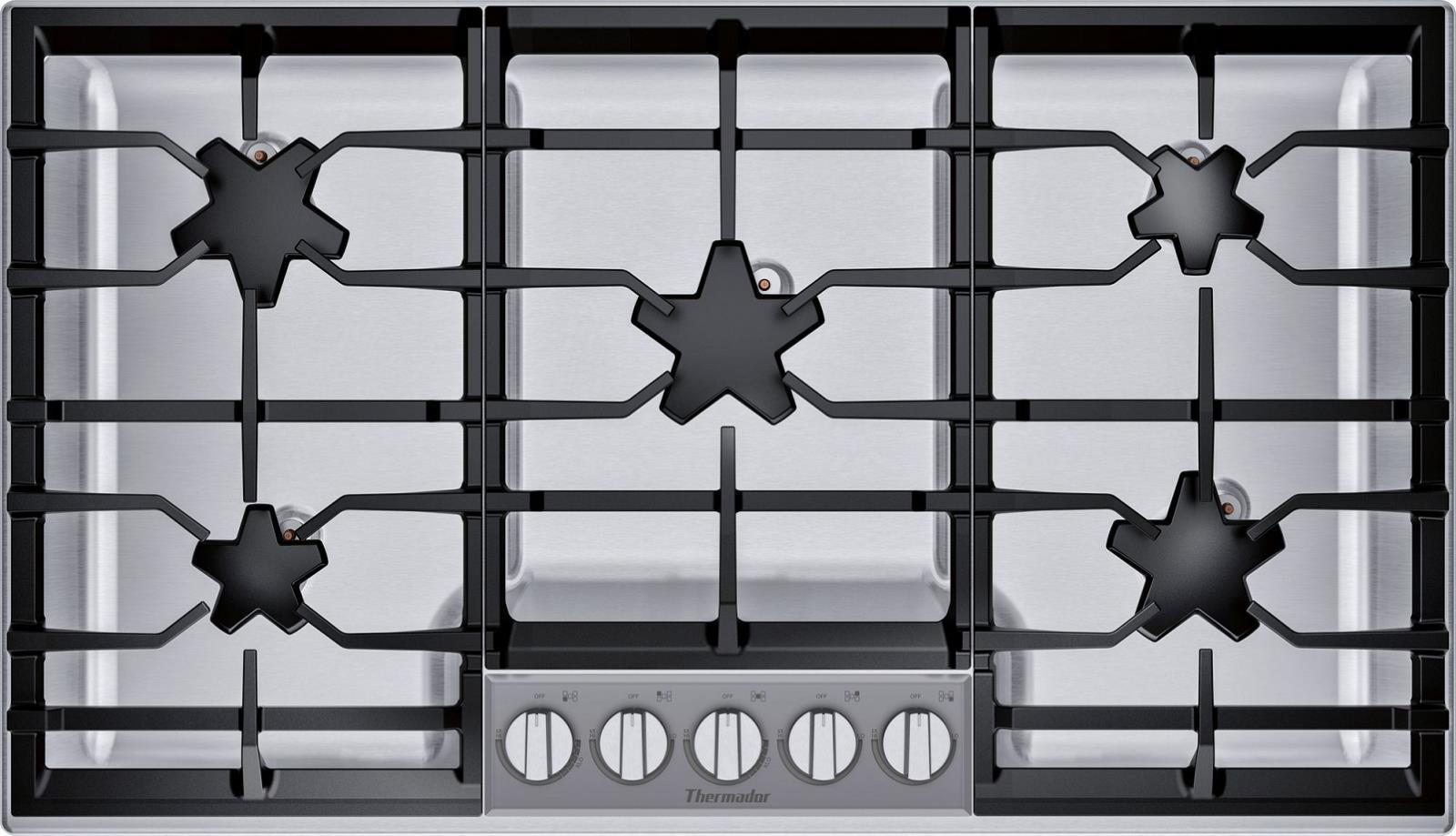 "Thermador Masterpiece Series SGSXP365TS 36"" Gas Cooktop Full Warranty - ALSurplus AL"