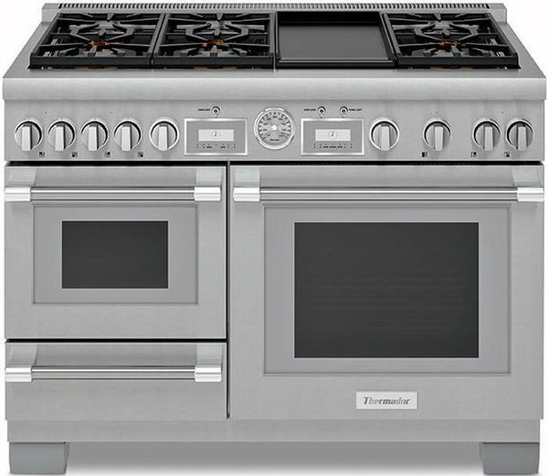 "Thermador 48"" Pro Grand Home Connect Dual Fuel Range PRD48WDSGU Stainless Steel - ALSurplus AL"