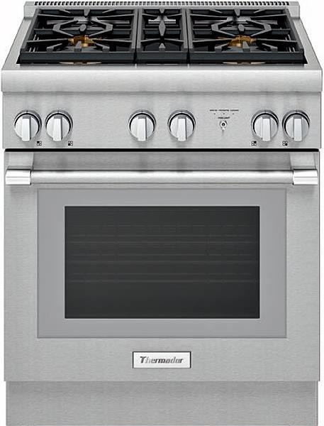 "Thermador Pro Harmony Professional 30"" 4 Star Burners Dual Fuel Range Perfect Fr - ALSurplus AL"
