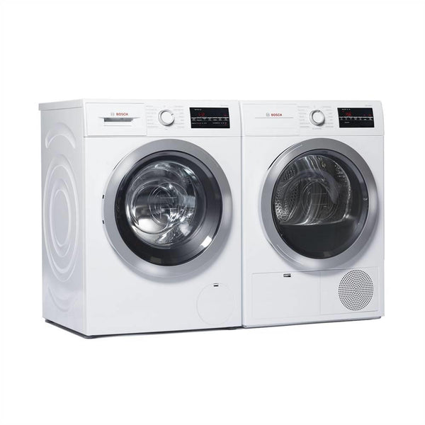 Bosch 500 Series WHT Front Load Washer + Dryer  WAT28401UC / WTG86401UC