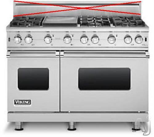 Viking Professional Series 48 Inch Pro-Style Gas Range VGCC5486GSS