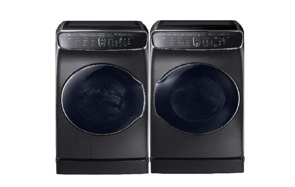 SAMSUNG 27'' Front Load Washer WV60M9900AV & Gas Dryer Black Stain. DVG55M9600V - ALSurplus AL