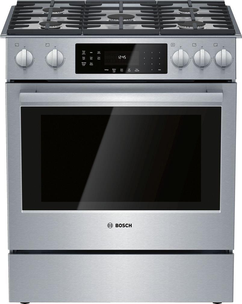 Bosch 30 Inches Slide-In Gas Range with Convection Technology HGI8056UC - ALSurplus AL