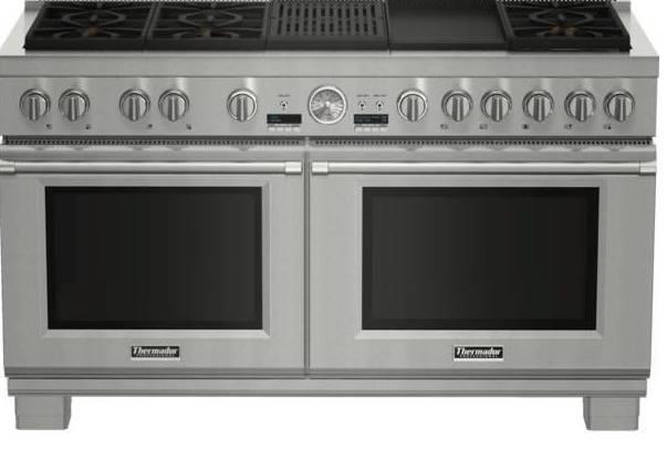 NIB Thermador Pro Grand 60'' Griddle & Grill Stainless Dual Fuel Range PRD606RCG - ALSurplus AL