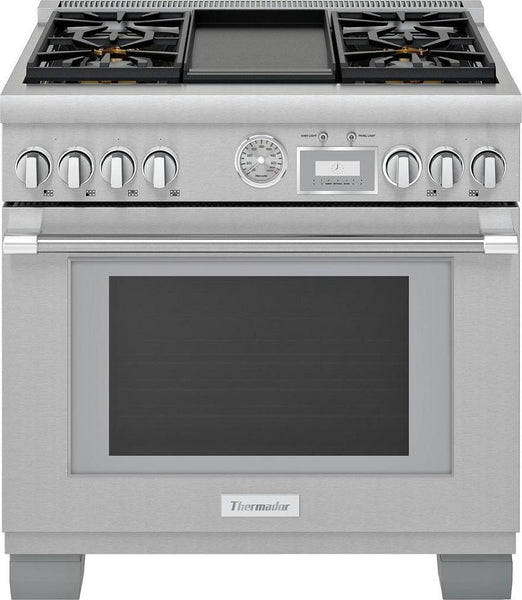 "Thermador Pro Grand Professional Series PRG364WDG 36"" Freestanding Gas Range - ALSurplus AL"
