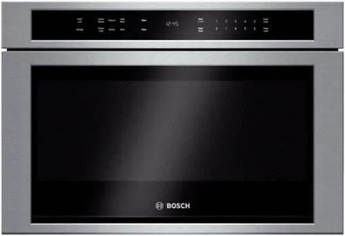 "Bosch 800 Serie 24"" 950W Touch Control Built-in SS Microwave Drawer HMD8451UC - ALSurplus AL"