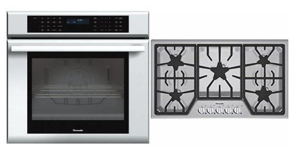 Thermador MasterPiece Series SS Single Oven + Cooktop SGS305FS / ME301JS