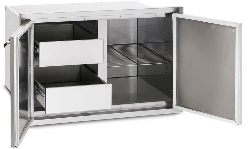 LYNX LPA36 36 Inch Sealed Pantry with Magnetic Gasket Seal, Illuminated Drawers - ALSurplus AL