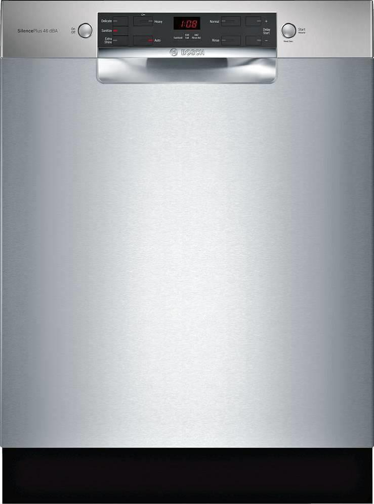 "Bosch 300 Series 24"" 46 dBA ADA AquaStop Plus Full Console Dishwasher SGE53X55UC - ALSurplus AL"