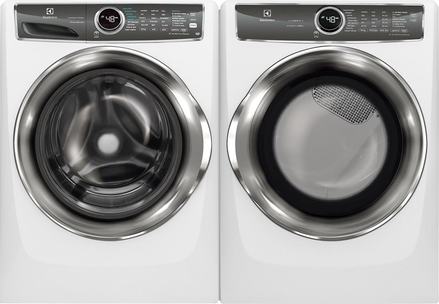 "Electrolux 27""  Front Load Washer & Dryer set EFLS627UIW / EFME527UIW - ALSurplus AL"