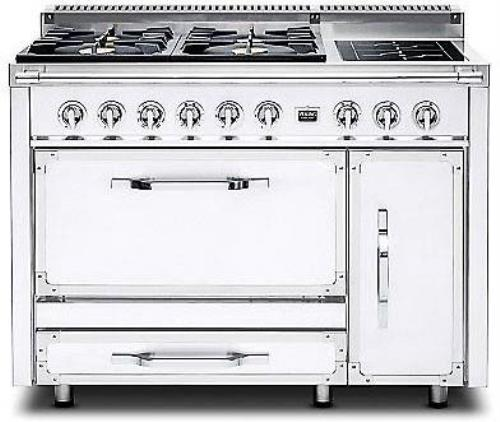 "viking Tuscany Series 48"" Antique White Pro-Style Dual Fuel Range TVDR4802GIAW"