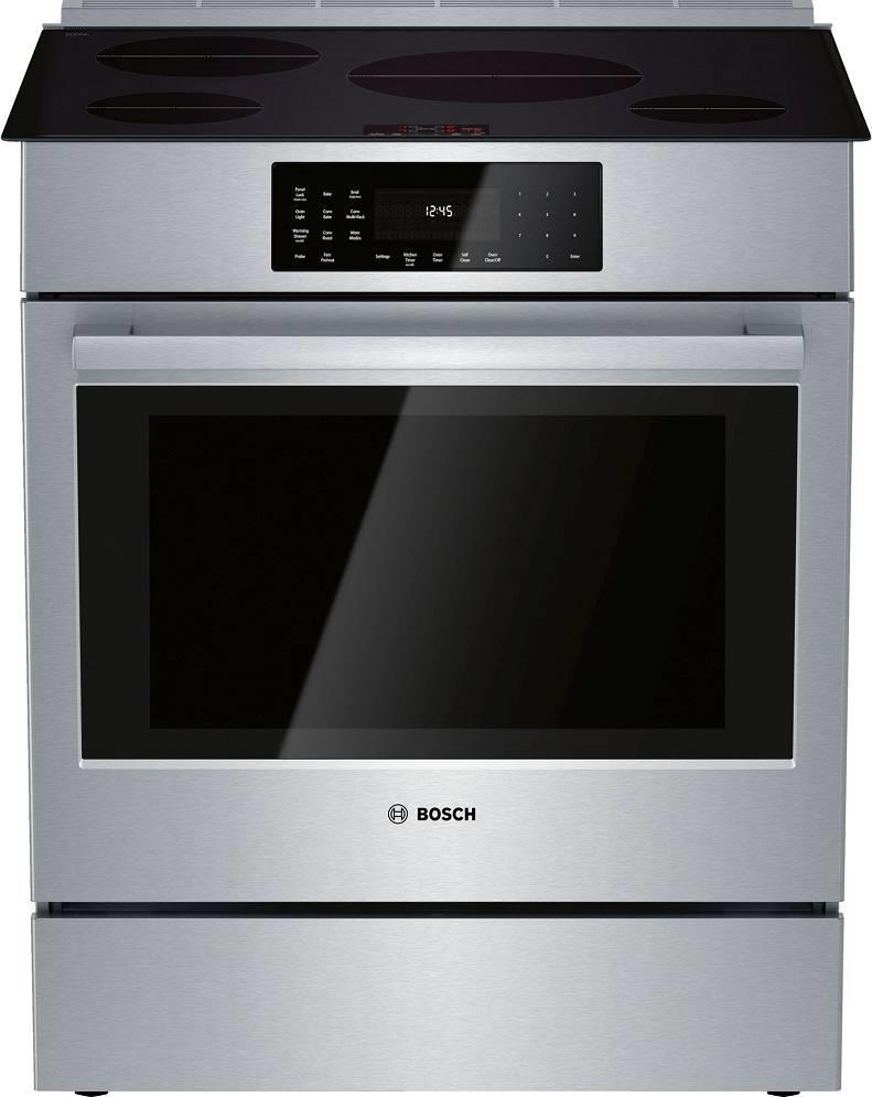 "Bosch 800 Series 30"" Induction Technology Slide-In Induction Range HII8056U Pics - ALSurplus AL"