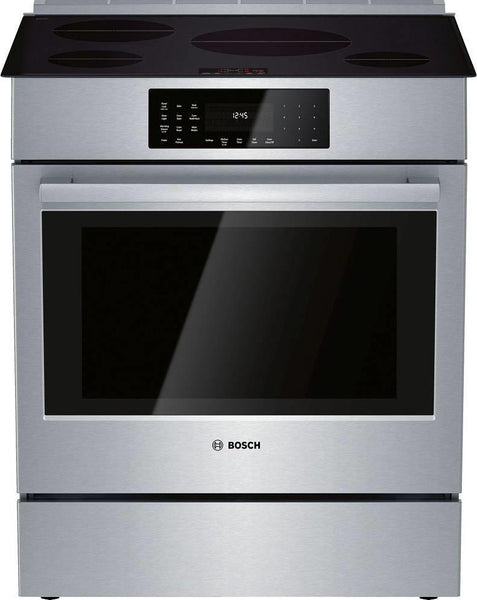 "Bosch 800 Series 30"" Induction Techno. Slide-In Induction Range HII8056U Perfect - ALSurplus AL"