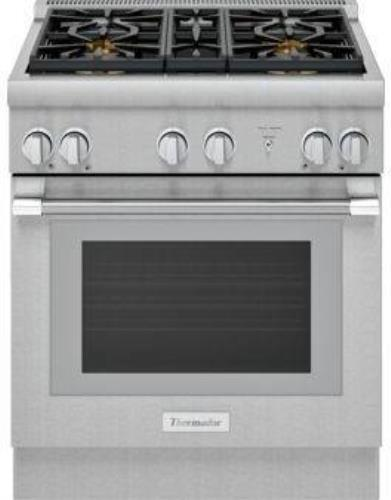 "Thermador Pro Harmony Professional Serie 30"" 4 Sealed Burners Gas Range PRG304WH"