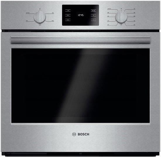 "Bosch 500 Series 30"" Single Electric Wall Oven Eco Clean HBL5351UC Perfect Front"