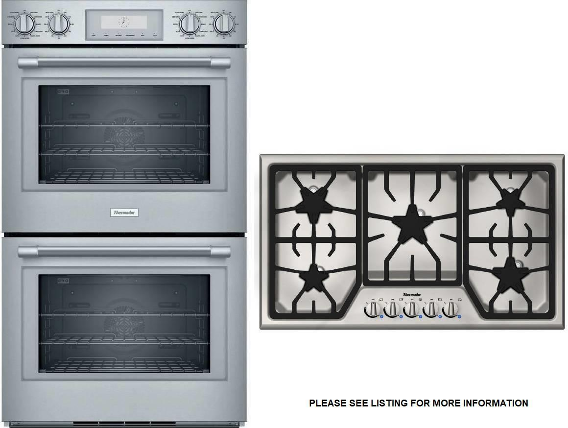 Thermador Professional Double Oven + MasterPiece Cooktop POD302W / SGS365FS - ALSurplus AL