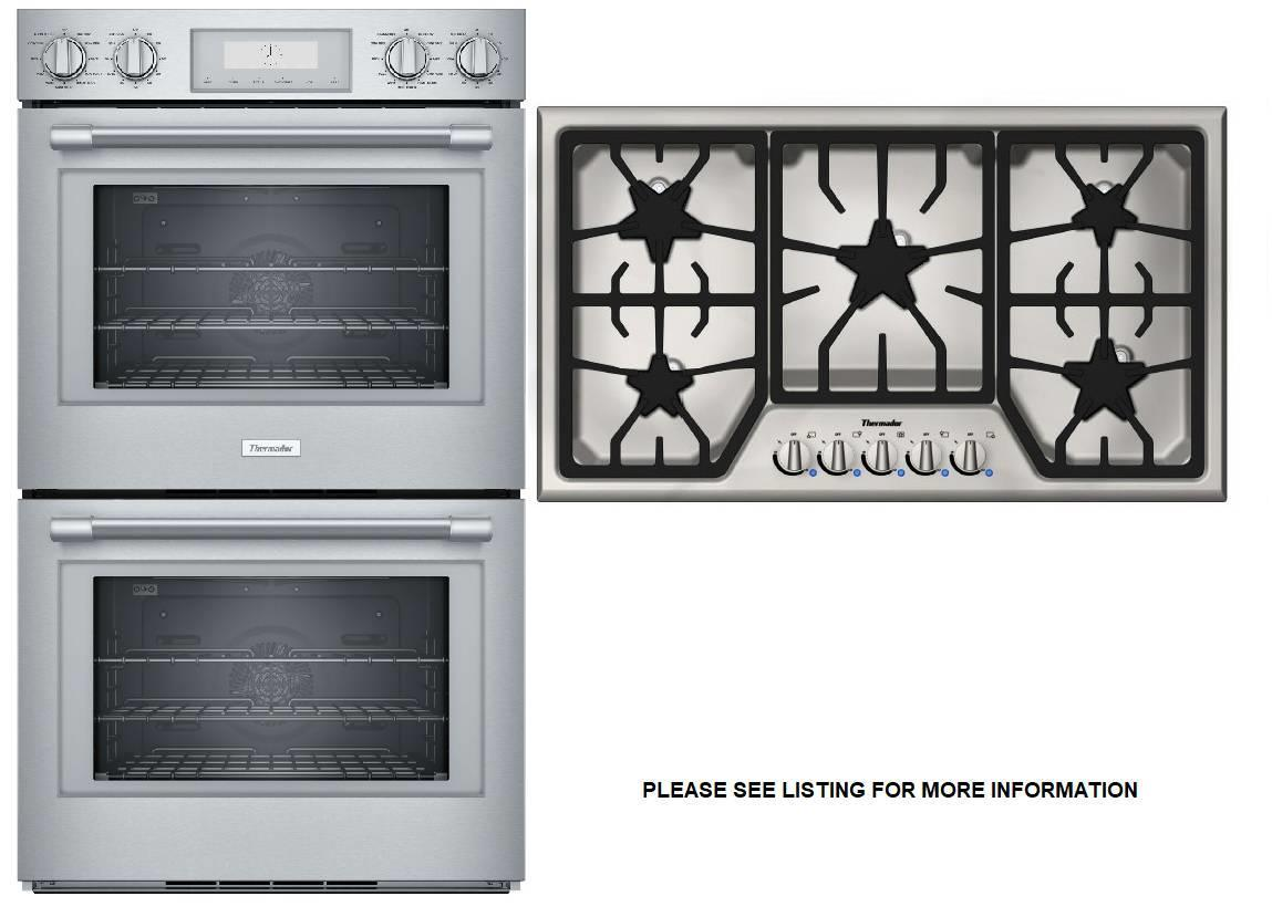 Thermador Professional Double Wall Oven + Masterpiece Cooktop PO302W / SGS365FS - ALSurplus AL