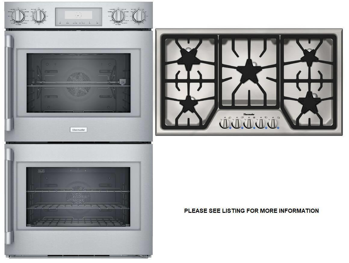 Thermador Professional Double Wall Oven+Masterpiece Cooktop POD302RW / SGS365FS - ALSurplus AL