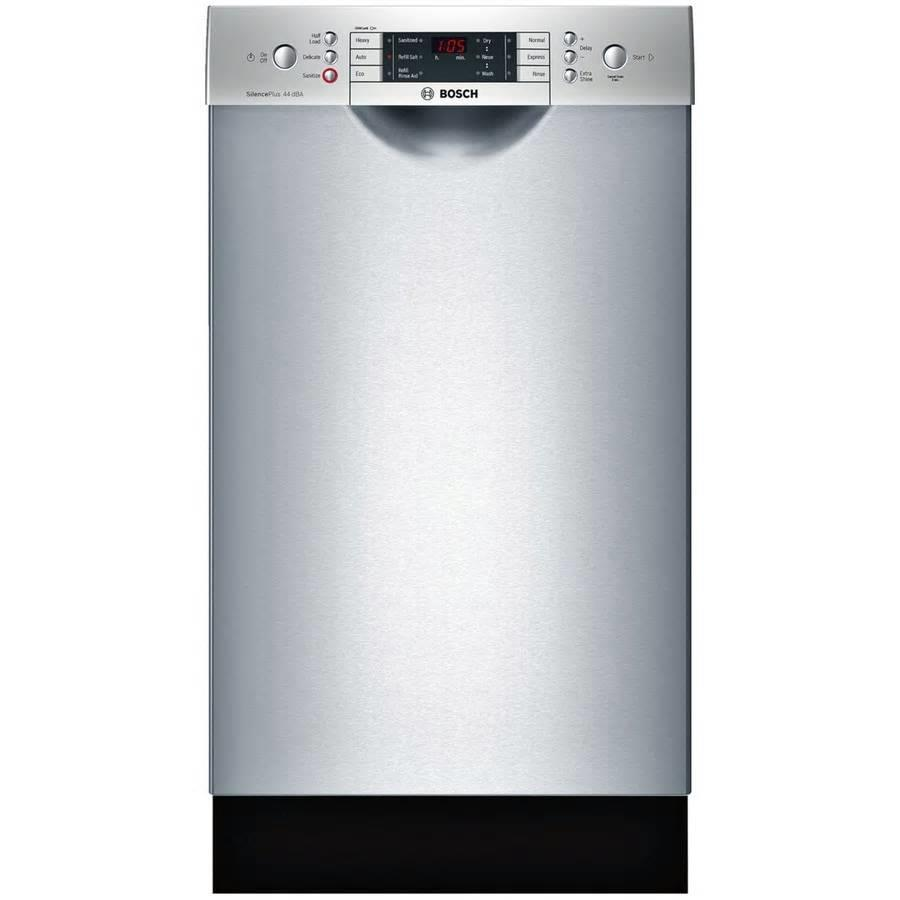 "Bosch 800 18"" 44DB Touch Control 6 Cycles Full Console SS Dishwasher SPE68U55UC - ALSurplus AL"