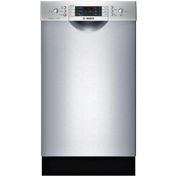 "Bosch 800 18"" 44 DB Touch Control 6 Cycles Full Console SS Dishwasher SPE68U55UC - ALSurplus AL"