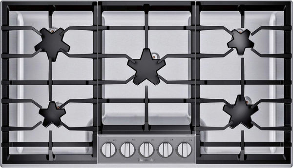 "Thermador 36"" QuickClean Patented 5 Star Burner's Stainless Cooktop SGSP365TS"
