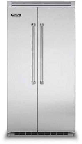 Viking Professional Series VCSB5422SS 42 Inch Built-in Side by Side Refrigerator - ALSurplus AL
