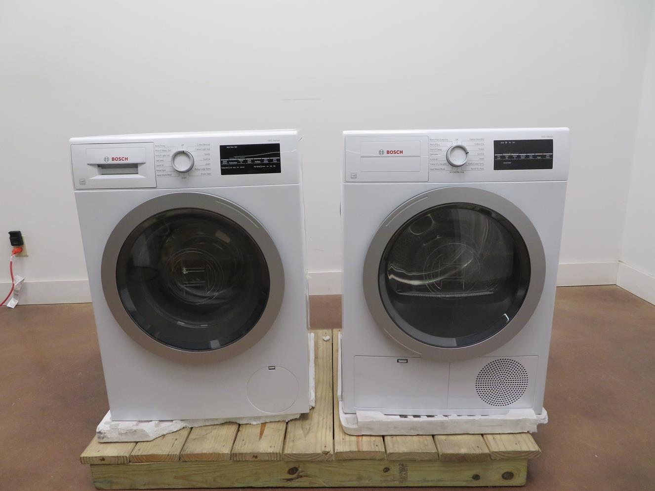 "Bosch 500 Series 24"" Front Load Washer and Dryer WAT28401UC / WTG86401UC Images - ALSurplus AL"