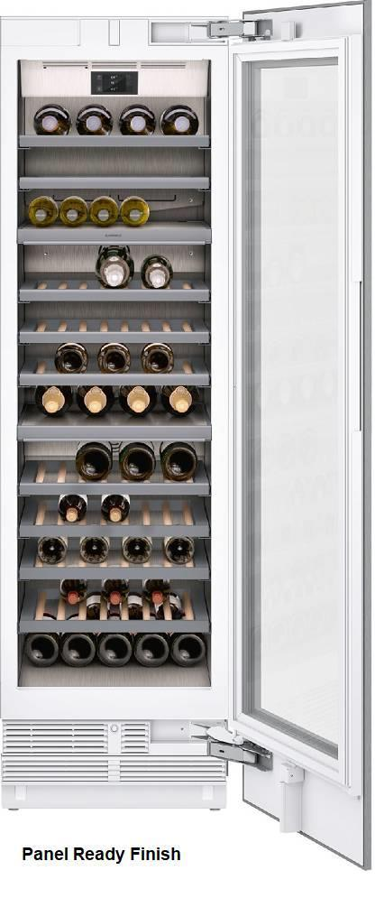 "Gaggenau 400 Series 24"" Three Temp Zones Fully Integrated Wine Cellar RW466764 - ALSurplus AL"