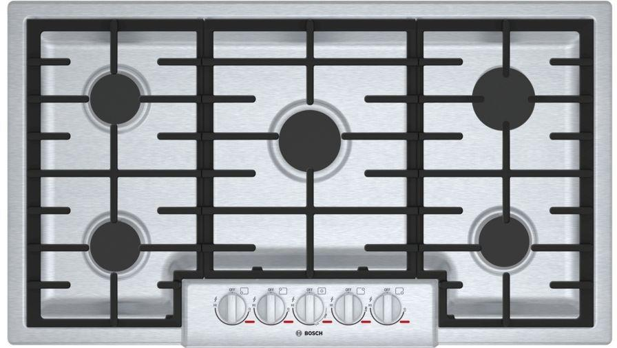 "Bosch Benchmark Series NGMP656UC 36"" Gas Cooktop with Dual Stacked Burner - ALSurplus AL"