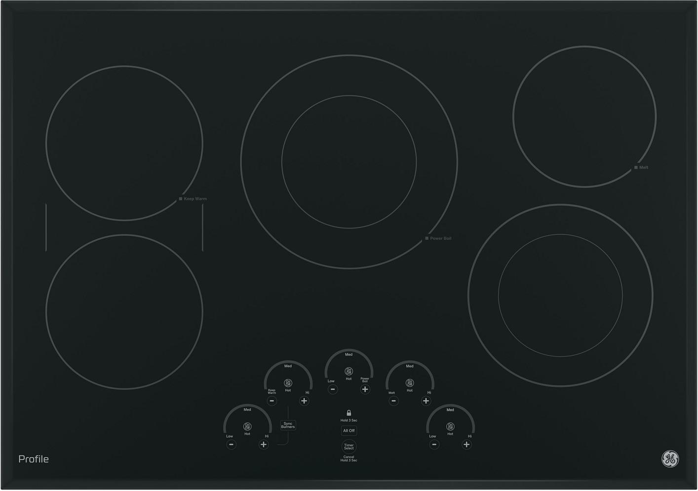 "GE - Profile Series PP9030DJBB 30"" Built-In Electric Cooktop - ALSurplus AL"