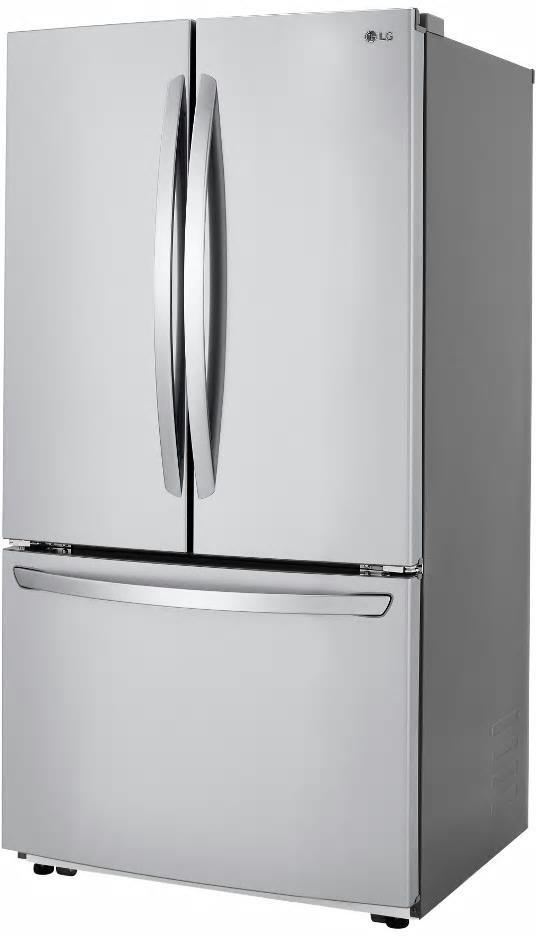 "LG LFCC22426S 36"" Counter Depth French Door Refrigerator 22.8 cuft Perfect Front - ALSurplus AL"
