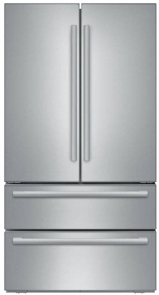 "Bosch 800 Series 36"" 4-Door French Door Refrigerator B21CL81SNS Good front - ALSurplus AL"