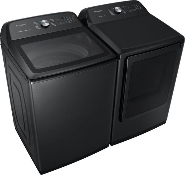"Samsung 27"" Washer WA50R5400AV & DVE50R5400V Electric Steam Dryer Black Sta. Set - ALSurplus AL"
