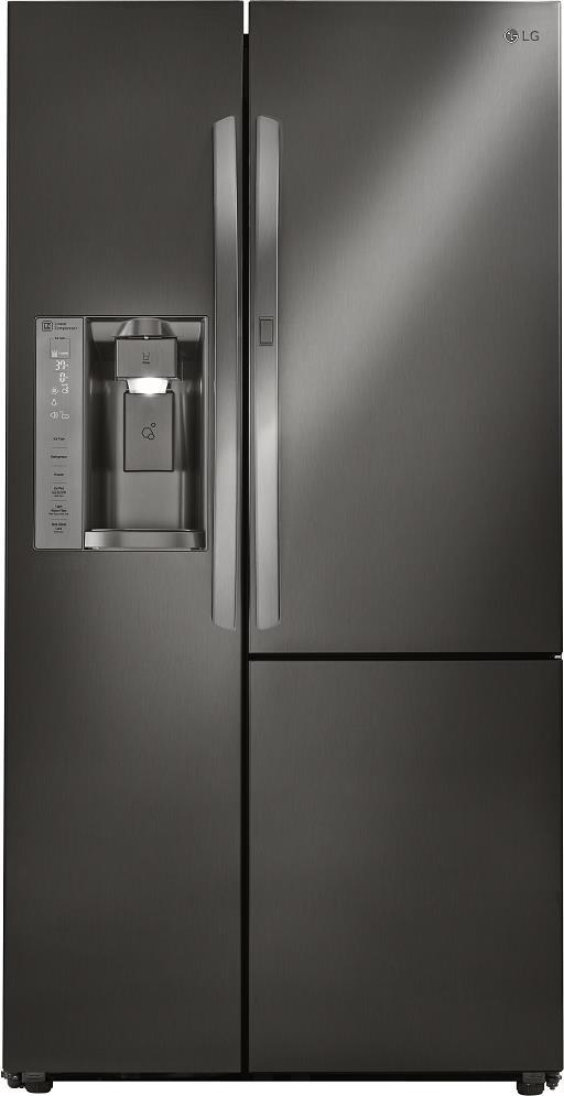 "LG LSXS26366D 36"" Side by Side Refrigerator with 26 Cu. Ft. Capacity Pictures - ALSurplus AL"
