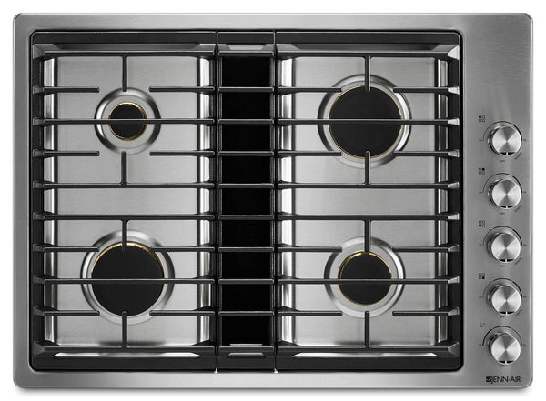 "Jenn-Air 30"" Euro-Style JX3 Stainless Steel Gas Downdraft Cooktop JGD3430GS - ALSurplus AL"