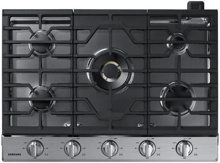 Samsung 30 Inch Wi-Fi and Bluetooth Blue LED Knobs SS Gas Cooktop NA30N7755TS - ALSurplus AL