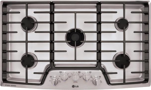 LG Studio LSCG366ST 36 Inch Gas Cooktop with 5 Sealed Burners - ALSurplus AL