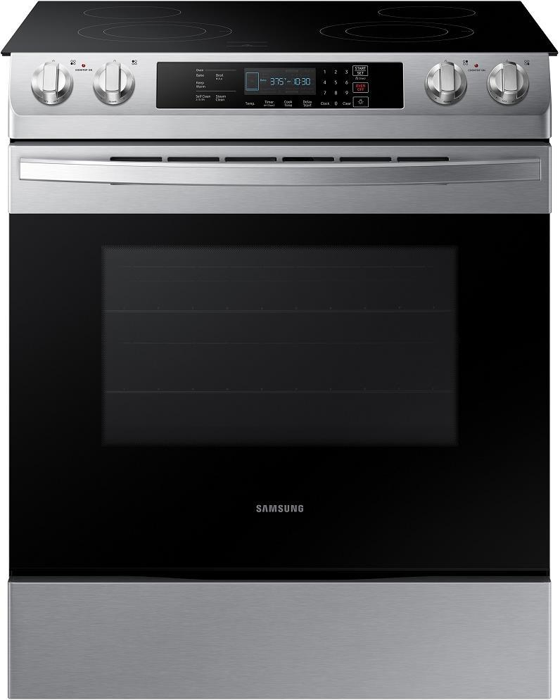 "Samsung NE58R9311SS 30"" Slide In Electric Range with Flexible Dual Ring Elements - ALSurplus AL"