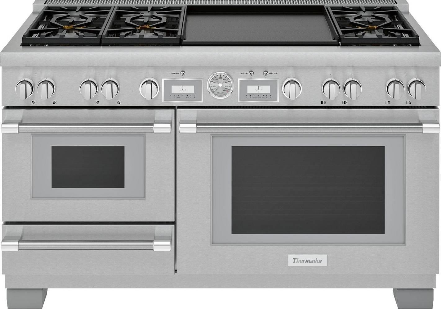 "Thermador Pro Grand 60"" Star Burner Smart Pro-Style Dual Fuel Range PRD606WCSG - ALSurplus AL"