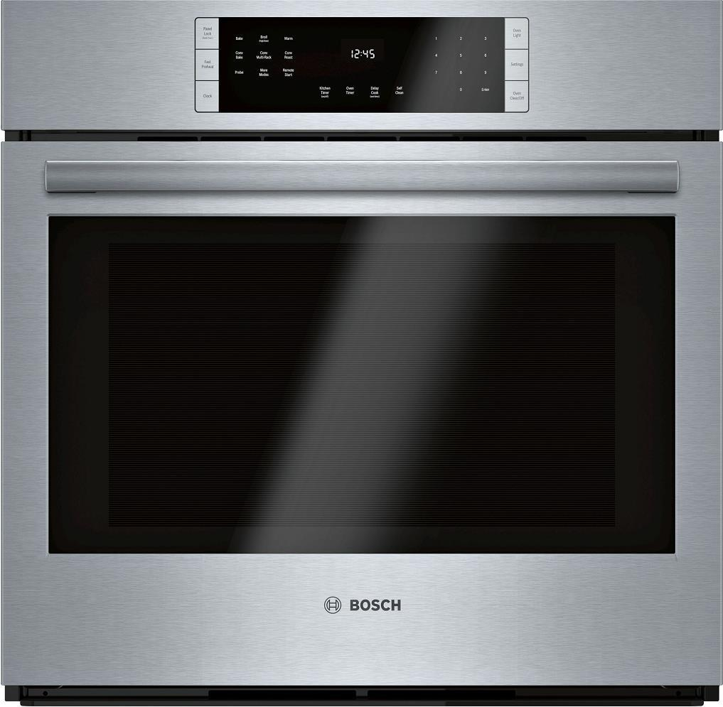 "Bosch 800 Series HBL8453UC 30"" Smart Single Electric Wall Oven with WiFi - ALSurplus AL"