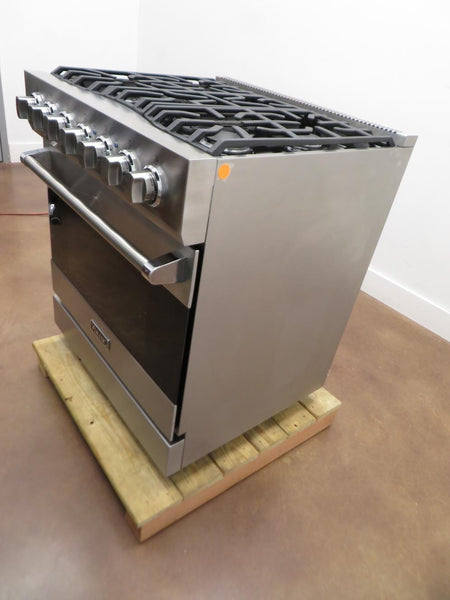 "Viking 3 Series 30"" 5 Sealed Burners Freestanding Gas Range RVGR33025BSS S.S - ALSurplus AL"