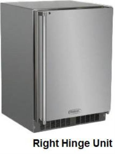 "Marvel Outdoor Series 24"" SS 6.54 Cu.Ft Built-in Outdoor Refrigerator MO24RAS1RS - ALSurplus AL"